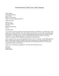 best photos of clerical letter of interest sample letter administrative clerk cover letter examples