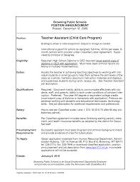 teacher assistant resume   sales   teacher   lewesmrsample resume  child care teacher assistant resume for