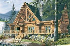 Rustic House Plans from DrummondHousePlans comScottish Log modern rustic cottage  bedrooms  open floor  abuandant fenestration   W