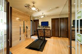 flush mount ceiling fan with light home gym contemporary with brown doors ceiling fan baseboards ceiling fan