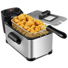 3.2 Quart <b>Electric Deep Fryer</b> 1700W <b>Stainless</b> Steel Timer Frying ...