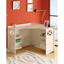 overstock this stylish cream corner desk makes a great addition to a bedroom bedroom small home office