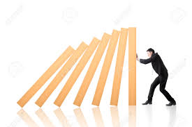 business concept of stop the domino effect stock photo picture business concept of stop the domino effect stock photo 30856375