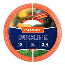 <b>Леска для триммеров PATRIOT</b> Duoline d=2.4мм L=15м — купить ...