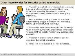 executive assistant interview questions pdf 11 other interview tips for executive assistant
