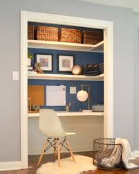 add a home office to a spare closet add home office