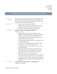 community health worker resume samples tips and templates health worker for community worker