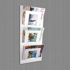 magazine rack wall mount: white wall magazine rack wall mounted magazine rack