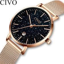 <b>CIVO Fashion Luxury</b> Watch <b>Women</b> Blue Starry Sky Face Ladies ...