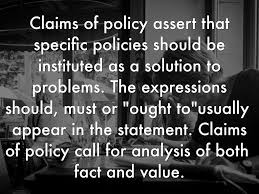 toulmin model of argument claims by kairi suswell claims of policy