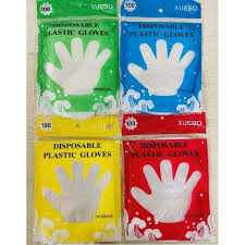 100Pcs/Pack <b>High</b> Quality <b>Disposable Plastic Gloves</b> | Shopee ...