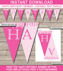 princess party banner template birthday banner editable bunting princess party banner template princess bunting happy birthday banner birthday party editable