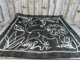 Африканская тема лев, животных, арт-деко, <b>шарф</b> в черно ...