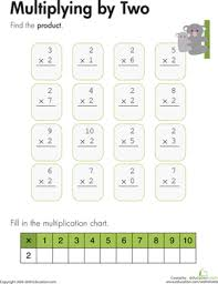 Multiplying by Two | Worksheet | Education.comThird Grade Multiplication Worksheets: Multiplying by Two