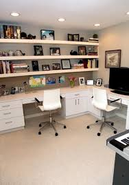 space saving ideas and furniture placement for small home office design www basement office design