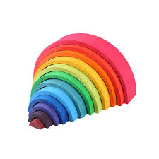 <b>12</b> Pcs/Lot Baby Toys <b>Rainbow Blocks</b> Wooden <b>Rainbow</b> Stacker ...
