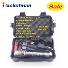 Promotion set <b>8000lm</b> XM L T6 <b>LED Flashlight</b> Torch <b>Rechargeable</b> ...