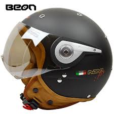 <b>New arrival brand</b> BEON <b>Motorcycle</b> helmet retro scooter open face ...