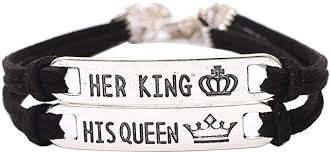 Gyouanime Women Bracelets Her King His Queen ... - Amazon.com