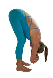 Image result for yoga standing forward bend pose with bent knees