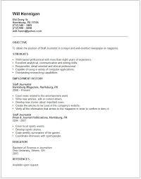 media  amp  arts resume examplesstaff journalist resume example
