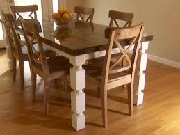 dining table with wheels: how to make classic style of dining table with white color of legs diy rustic