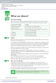 english idioms in use advanced book answers sample pages