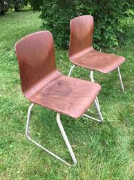<b>2</b> Thur Op Seats Industrial Mid Century Modern <b>Chairs</b> 4 Total ...
