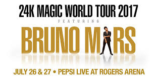 <b>Bruno Mars</b>: <b>24K</b> Magic World Tour | Rogers Arena
