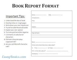 How to Write a College Level Book Report