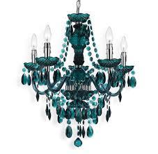 blue green global bazaar bohemian 5 light beaded swag chandelier kathy kuo home bohemian lighting