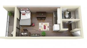 Creative One Bedroom House Plans that Promote Eco friendly Environmentlong narrow single bedroom d floor plans   terrace