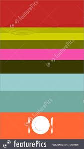 templates colorful menu cover design stock illustration colorful menu cover design