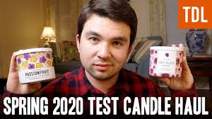 NEW Spring 2020 Test Candles - Bath & Body Works Haul - YouTube