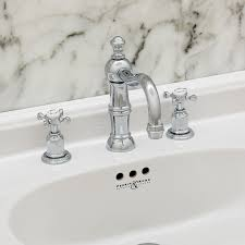 perrin rowe lifestyle: three hole basin set with country spout and crosshead handles perrin and rowe