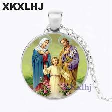 <b>XKXLHJ</b> New Style Blessed Virgin Mary <b>Mother</b> of Baby Necklace ...