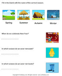 Seasons of the Year Worksheet - Turtle DiarySeasons: Answer the Questions