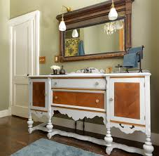traditional country bathroom vanity ideas pictures with white and brown wooden painted cabinet combination using sculpt bathroom vanity lighting ideas combined