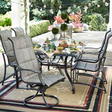 patio dining: statesville  piece padded sling patio dining set