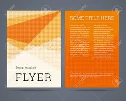 flyer brochure design template a format geometric abstract flyer brochure design template a4 format geometric abstract background vector illustration stock vector 29691473
