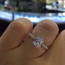 <b>ROMAD</b> Full <b>Cubic Zirconia</b> Wedding <b>Ring</b> for Women Crystal ...