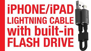 <b>PhotoFast</b> MemoryCable - Lightning to <b>USB</b> Cable with <b>Flashdrive</b> ...