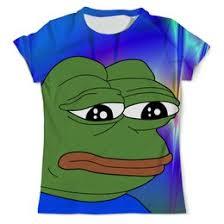 """Мужские <b>футболки</b> c прикольными принтами """"грустная лягушка ..."""