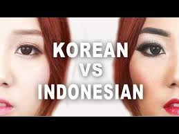korean vs indonesian makeup makeup tutorial littlemissboo