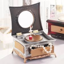 2019 Dressing Table Music Box <b>Ballet Spinning</b> Girl Jewelry ...