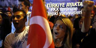 Yurt genelinde teröre tepki gösterileri sürüyor