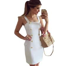 gold work promotion shop for promotional gold work on com sexy office casual work wear 2016 summer w vestido gold button fly side mock pocket mini party dress in black white