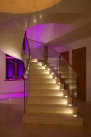 staircase lighting brilliant concrete beautifully lit consider home decorator collection traditional home decor application lamps staircase