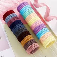 <b>50 Pcs</b>/bag Colorful Hair Ropes <b>Elastic</b> Rubber Hair Bands for ...