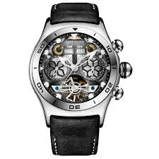 <b>Reef Tiger/RT Mens Sport</b> Watches Automatic Skeleton Watch Steel ...